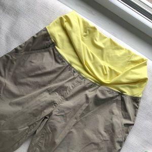 Tan hiking pants maternity stretch waist